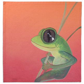 Happy Hawaiian Frog on Young Bamboo Cloth Napkin
