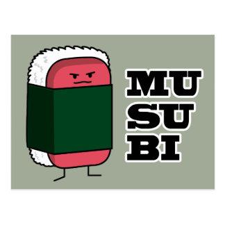 Happy Hawaiian Musubi Spam Sushi Postcard
