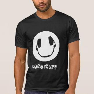 Happy Headphone - Music is Life T-Shirt