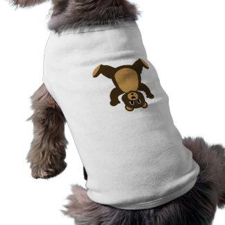 Happy Headstand Brown Bear Dog Tee Shirt