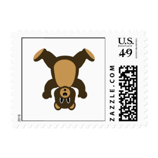 Happy Headstand Brown Bear Stamps