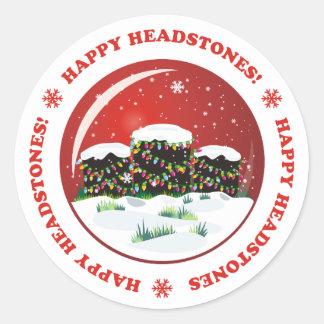 Happy Headstones! Classic Round Sticker