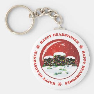 Happy Headstones Keychain