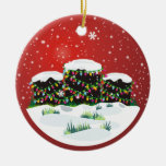 Happy Headstones! Double-Sided Ceramic Round Christmas Ornament