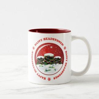 Happy Headstones! Two-Tone Coffee Mug