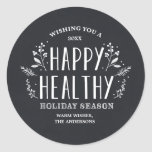 "Happy Healthy Holiday | Gift Tag Stickers<br><div class=""desc"">©Fine & Dandy Paperie</div>"