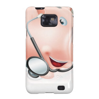 Happy healthy piggy bank galaxy SII cover
