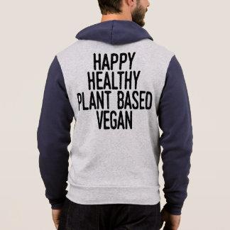 Happy Healthy Plant Based Vegan (blk) Hoodie