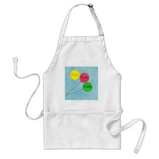Happy Healthy Wealthy Balloon Affirmation Adult Apron