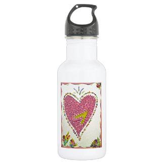 Happy Heart 18oz Water Bottle