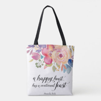 Happy Heart All Over Print Bag