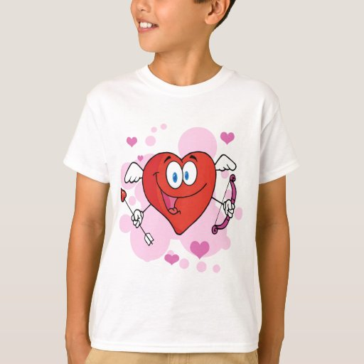Happy Heart Cupid With A Bow And Arrow T-Shirt