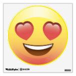 Happy Heart Eyes Emoji Smiley Face Wall Decal