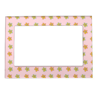 Happy Heart Flowers Magnetic Photo Frame