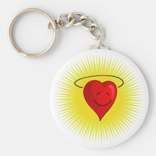 Happy Heart Keychain