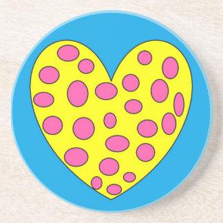 Happy Heart Sandstone Coaster