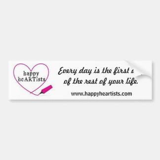 Happy Heartists Bumper Sticker Car Bumper Sticker