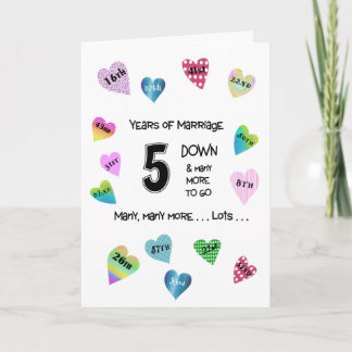 Happy Hearts 5th Anniversary Card