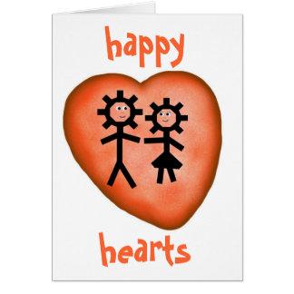 happy hearts card