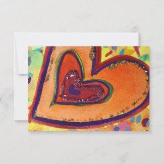 Happy Hearts Custom Small Invitations or Invites