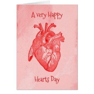 Happy Hearts Day Valentine Card