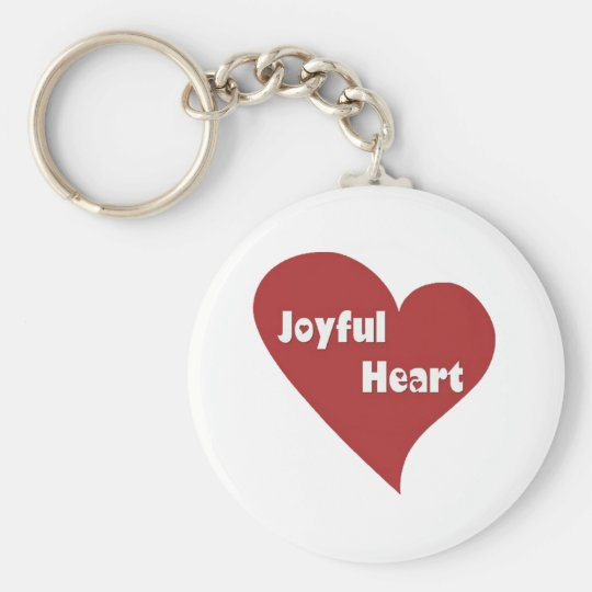 Happy hearts full of joy keychain