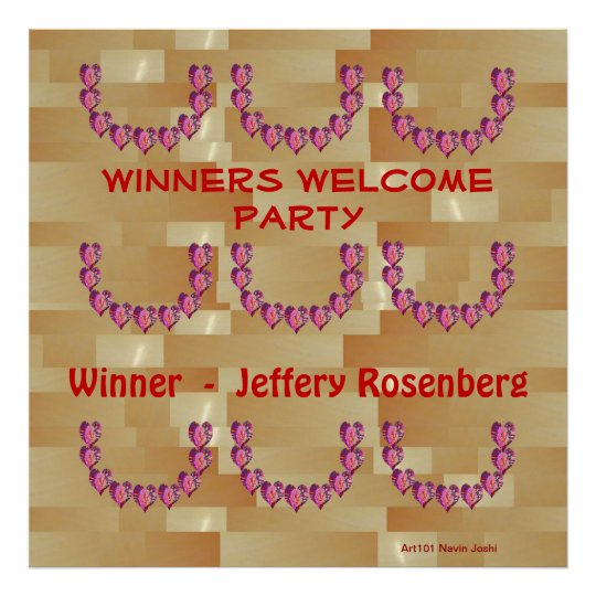 Happy Hearts -  Garlands for Winners Party Poster
