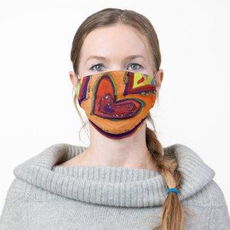 Happy Hearts Inspirational Art Custom Face Masks