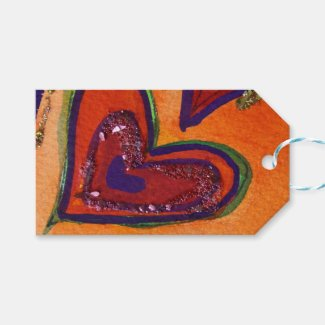 Happy Hearts Love Custom Card Gift Tags