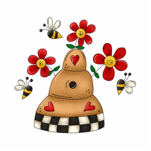 Happy Hearts N Flowers Bee Hive Photo Cut Outs