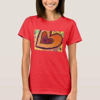 Happy Hearts Painting Love Artwork T-Shirt
