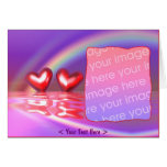 Happy Hearts (photo frame) Greeting Card