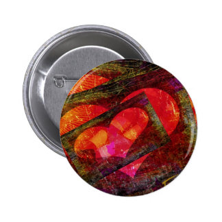 Happy Hearts Pinback Button