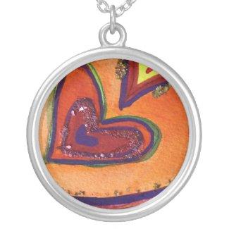 Happy Hearts Silver Necklace Charm Pendant