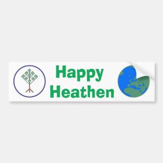 Happy Heathen Bumper Sticker Car Bumper Sticker