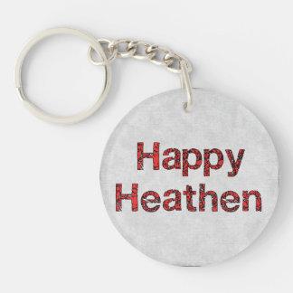Happy Heathen Single-Sided Round Acrylic Keychain