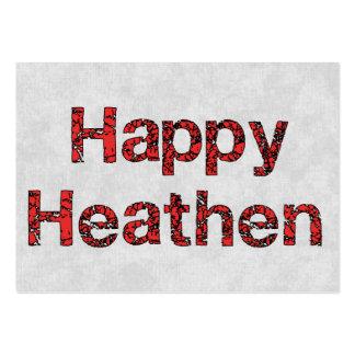 Happy Heathen Large Business Card