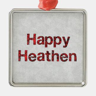 Happy Heathen Metal Ornament