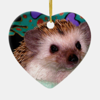 Happy Hedgehog Ceramic Ornament
