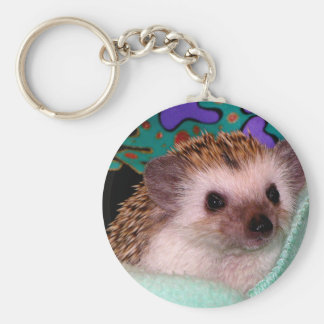 Happy Hedgehog Keychain