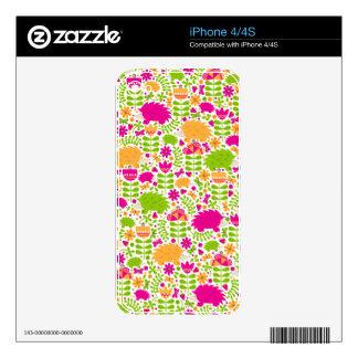 Happy Hedgehog iPhone 4S Decals