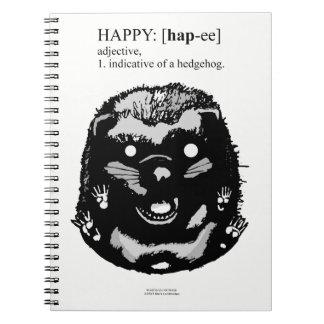 Happy Hedgehog Spiral Notebook