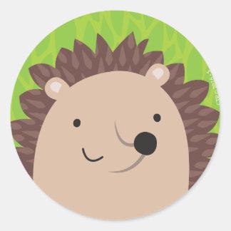 Happy Hedgehog - Woodland Friends Classic Round Sticker