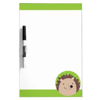 Happy Hedgehog - Woodland Friends Dry Erase Board