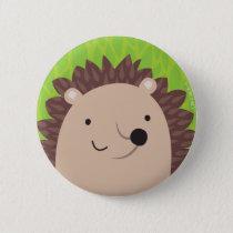 Happy Hedgehog - Woodland Friends Pinback Button
