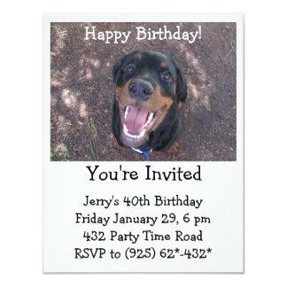 Happy Heidi Rottweiler Invitation