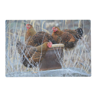 Happy Hens In A Pot Place Mat