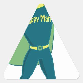 Happy Hero Stuff Triangle Sticker