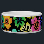"Happy Hibiscus Bowl<br><div class=""desc"">Treat your pet to a tropical vacation every meal with this vibrant hibiscus patterned bowl.  Colorful and dramatic... not your average pet bowl!</div>"