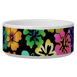 Happy Hibiscus Dog Bowls